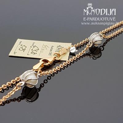 Grandinėlė puošta baltu auksu ir perlais
