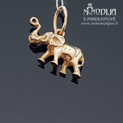 Auksinis pakabukas drambliukas