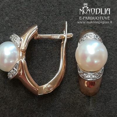Auskarai su perlais