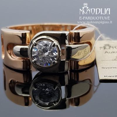 Vyr. žiedas su baltu auksu ir cirkoniu