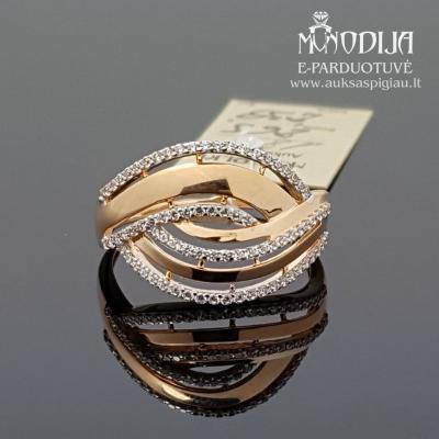 Žiedas puoštas cirkoniu