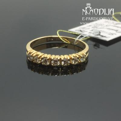 750 prabos žiedas su briliantais