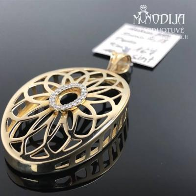 Geltono aukso pakabukas su akmenukais