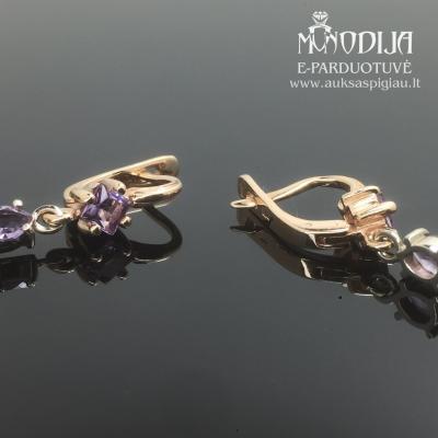Auskarai su violetinėm akutėm