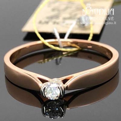 Auksinis žiedas su brilliantu