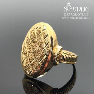 Vintažinis 750 prabos aukso žiedas