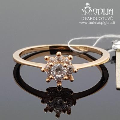 Aukso žiedas su cirkoniu