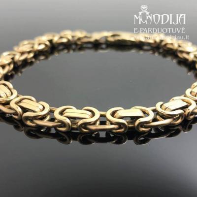 Geltono aukso 375 prabos apyrankė