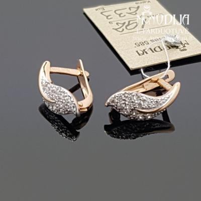 Auksiniai auskarai - lapeliai
