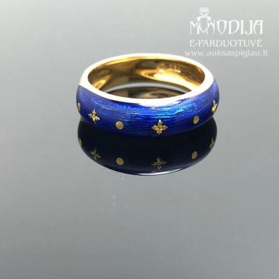 Vintažinis žiedas su emale