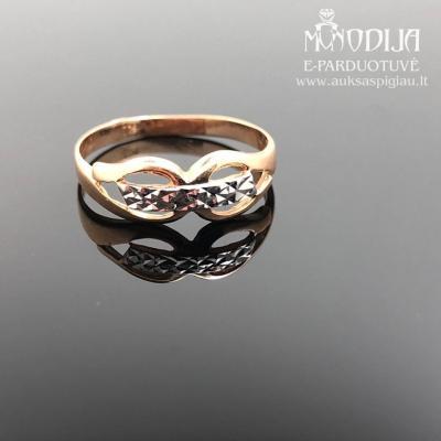 Žiedas su baltu auksu