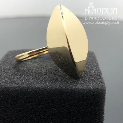 Vintažinis geltono aukso žiedas