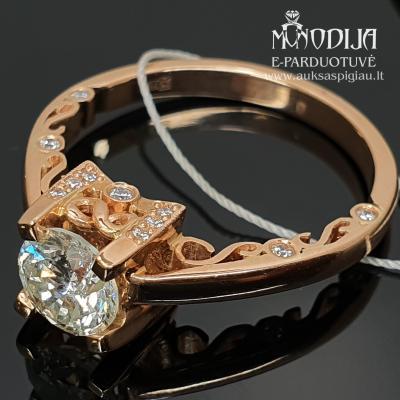 Vintažinis žiedas su 1ct deimantu