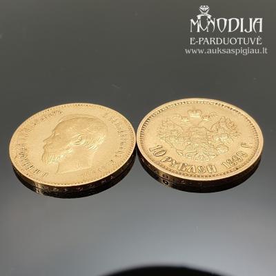Auksinė Nikolajaus moneta 10 rublių