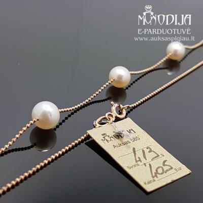 Grandinėlė su perlo pakabukais