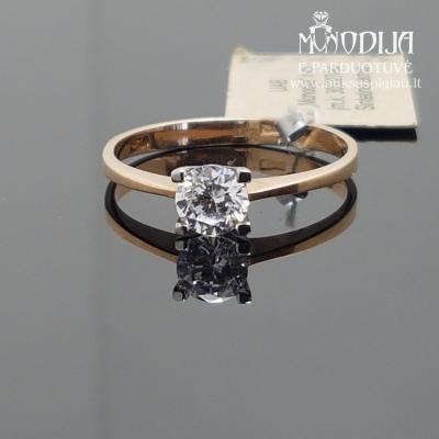 Žiedas su cirkoniais