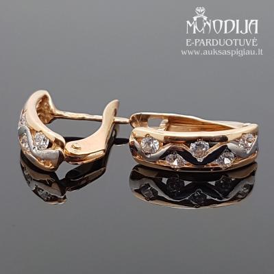 Auksiniai auskarai su baltu auksu