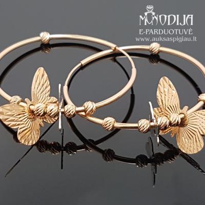 Auksinės rinkės su drugeliais