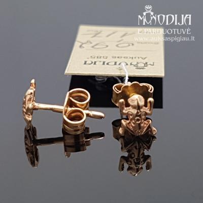 Auksiniai auskarai varlytės