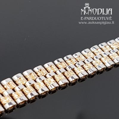 Auksinė apyrankė su baltu auksu