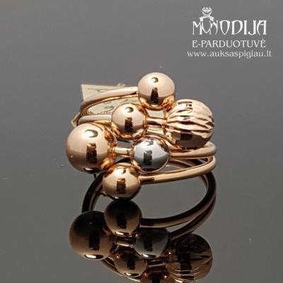 Auksinis žiedas su burbulais