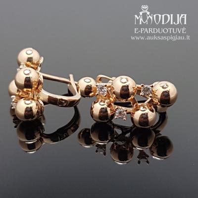 Auksiniai auskarai su burbulais