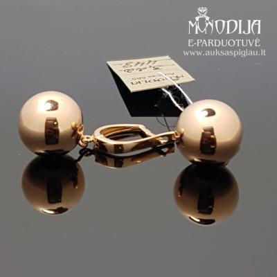 Auksiniai auskarai - burbulai