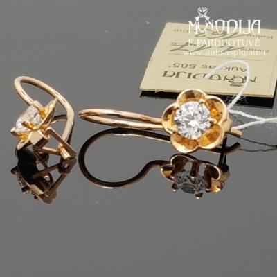 Auksiniai auskarai - gėlytės