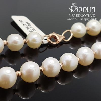 Auksinis perlų vėrinys