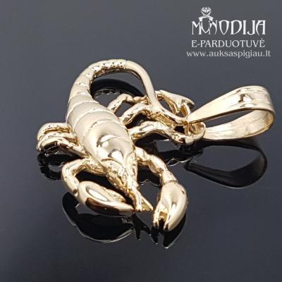 Geltono aukso pakabukas Skorpionas