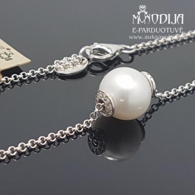 Sidabrinė grandinėlė su perlais
