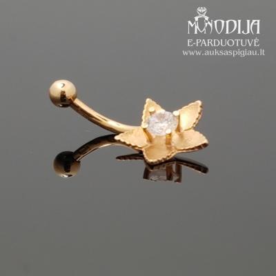 Auksinis auskaras i bambą