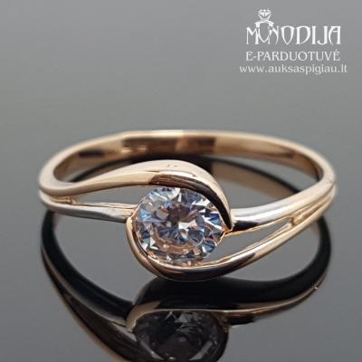 Raudono aukso žiedas