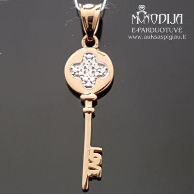 Auksinis pakabukas raktelis