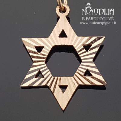 Auksinis pakabukas Dovydo žvaigždė