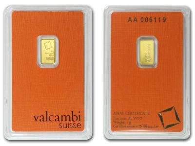 valcambi 1g one gram gold bullion bar