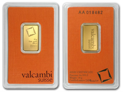 valcambi 10g ten gram gold bullion bar