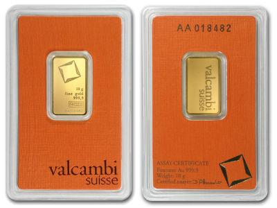 valcambi 10g ten gram gold bullion bar