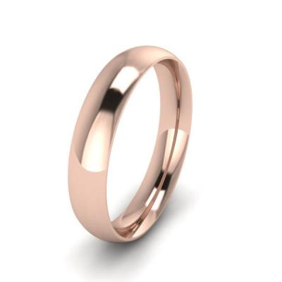 Klasikinis vestuvinis žiedas 4mm auksas raudonas 585