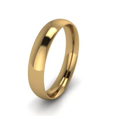 Klasikinis vestuvinis žiedas 4mm auksas geltonas 585 3D