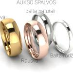 Klasikinis vestuvinis žiedas 4mm auksas baltas 585 spalvos