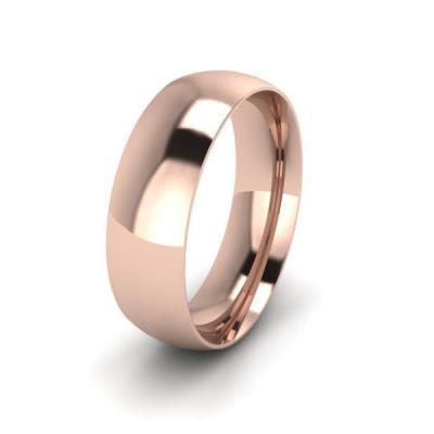 Klasikinis vestuvinis žiedas 6mm auksas raudonas 585