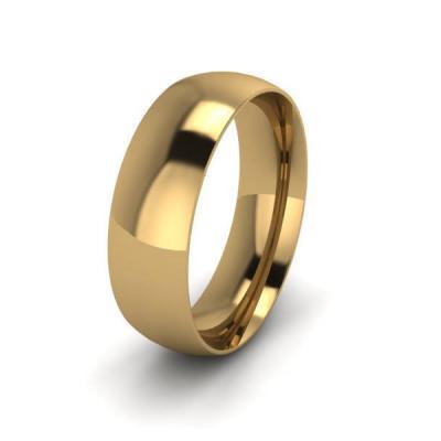 Klasikinis vestuvinis žiedas 6mm auksas geltonas 585 3D