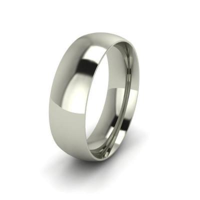 Klasikinis vestuvinis žiedas 6mm auksas baltas 585 3D