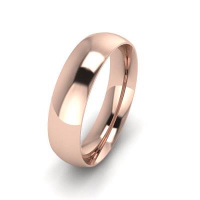 Klasikinis vestuvinis žiedas 5mm auksas raudonas 585