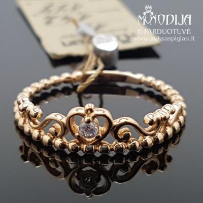 Auksinis žiedas karūna