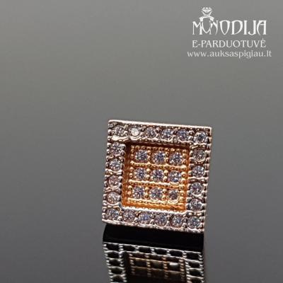 Auksinis auskaras su akmenukais
