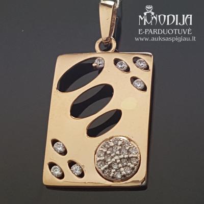 Auksinis pakabukas su akmenukais