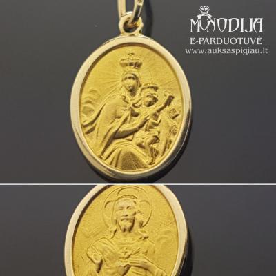 Geltono aukso pakabukas Jėzus
