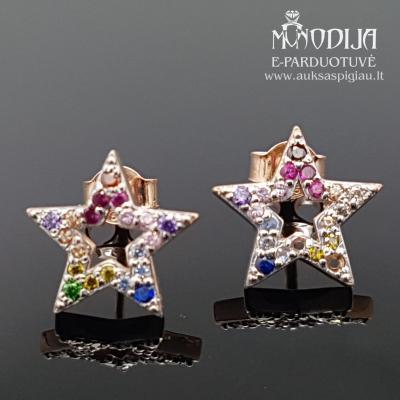 Auksiniai auskarai žvaigždės